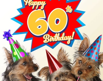 Happy 60th Birthday Party Wall Decal - #58003