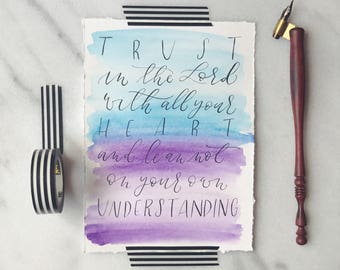 Calligraphy Print - Proverbs 3:5