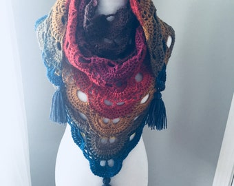 Virus Shawl - Crocheted Wrap