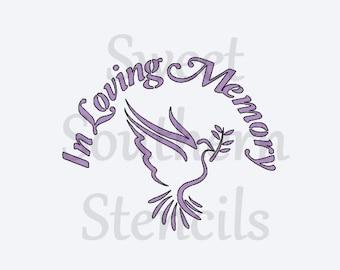 In Loving Memory Stencil