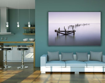 Wall Art Print | Swanage old pier, Dorset | Gloss Print, Fine Art Print or Canvass Wrap | Various sizes