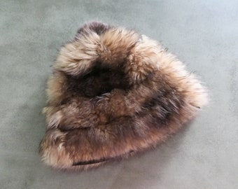 Vintage ITALIAN FUR CAP ⋆ Tuscan Lamb Skin Fur Hat 60s 70s Shag Italy High Fashion Streetwear High End Luxury Accessory Small Designer Hats