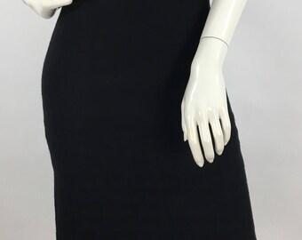 1990s Teenflo black pencil skirt