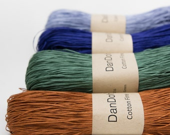 Cotton Fine Yarn, Light Fingering weight, by DanDoh, Yumiko Alexander