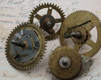 Gears from Cash Register Large Size Vintage Ephemera