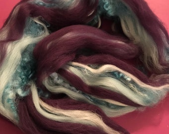 Handpulled roving - Blue/purple