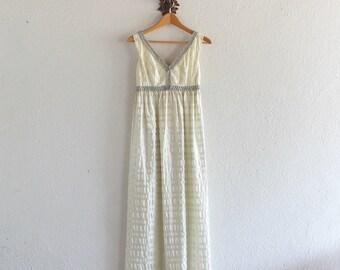 1960s  Vintage Grecian Goddess Dress/ 1960s Vintage Dress / 60s Lorrie Deb San Francisco Dress