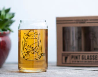 Pint Glass Set Lantern design