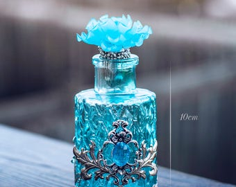 Antique Blue Cyan bottle