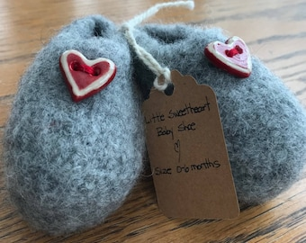 Felted Wool Baby Bootie
