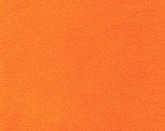 Orange Fleece, Fabric By The Yard