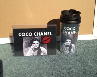 Coffee Mug Travel Cup Tumbler Custom Made Coco Chanel Photo Picture Queen Fridge Magnet Refrigerator