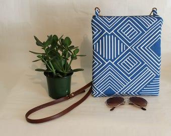 Crossbody Bag, Simple CrossBody Bag, CrossBody Purse, Everyday Purse, Handbag, Blue Crossbody Bag, Boho Bag, Fabric Hobo Purse, Simple Bag
