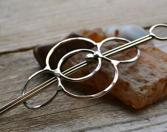 Mixed metal hair barrette or hair clip