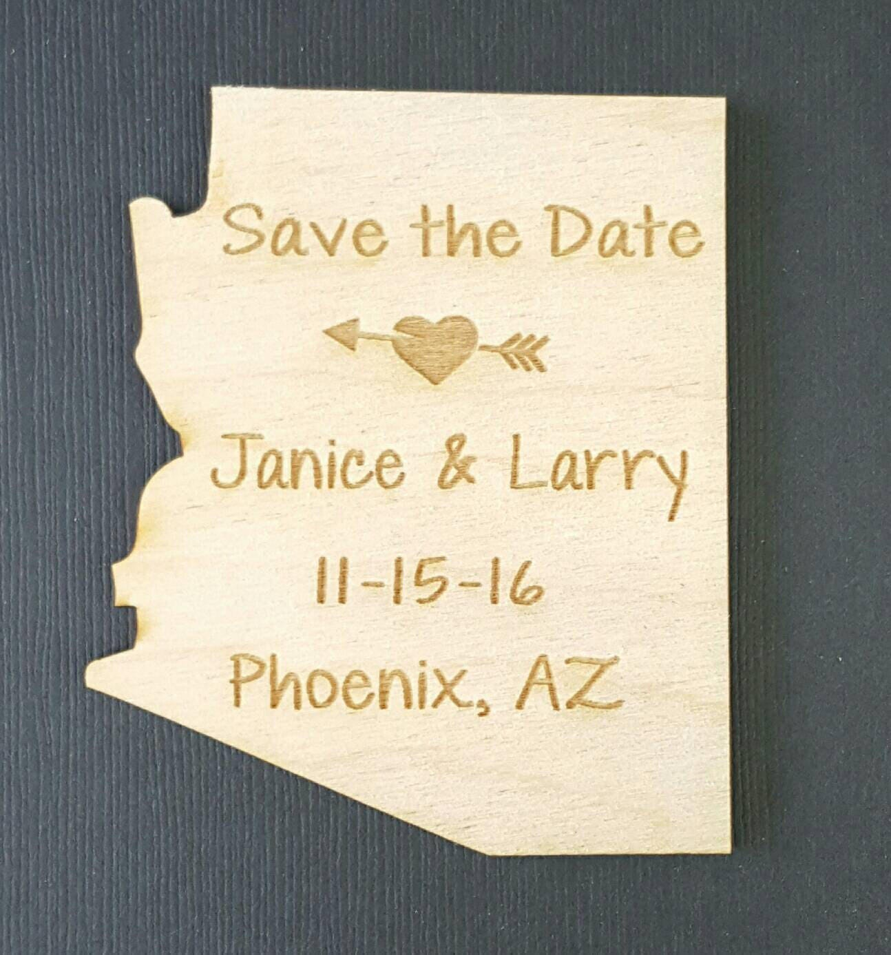 50 Wedding Favor, Arizona Wedding Favor State Magnets - Bride, Groom ...