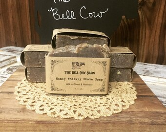 All-Natural Honey Whiskey Shave Soap, Shave Soap, Handmade Shave Soap, Whiskey Soap, Honey Soap, Men's Soap