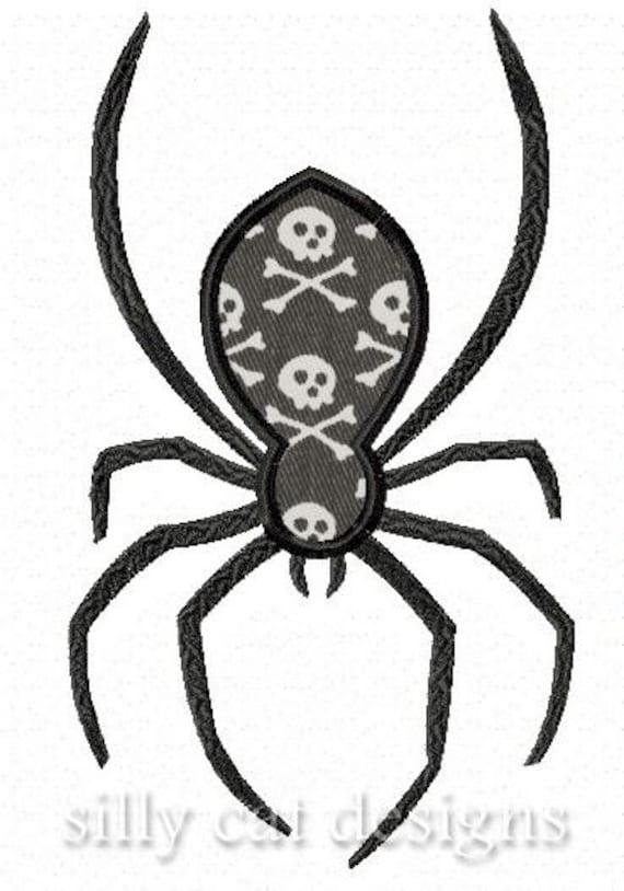 Spooky Spider Applique Embroidery Design