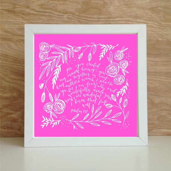 Custom Color Prints For I Am Fearfully And Wonderfully Made