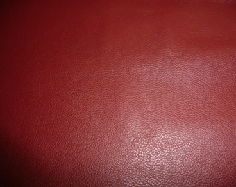 """Leather 8""""x10"""" DIVINE Dark Red top grain Cowhide 2-2.5 oz /.8-1mm PeggySueAlso™ E2885-28 Full hides available"""