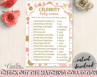 Celebrity Baby Names, Baby Shower Celebrity Baby Names, Dots Baby Shower Celebrity Baby Names, Baby Shower Dots Celebrity Baby Names RUK83