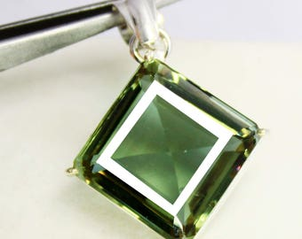 64.60Ct Certified Fantastic Alexandrite Pendant 925 Solid Sterling Silver AU3944