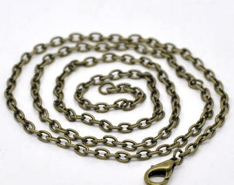 Chain 51 cm bronze chain 2x3mm