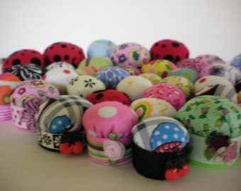 Bottlecap pincushions