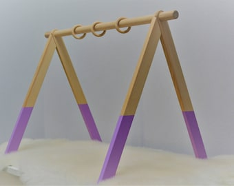 Lilac activity arch, Baby activity center, Montessori toy, Baby fitness studio, Baby gym, Scandinavian gym, Wooden baby gym, Lilac play gym