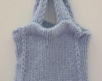 Knitting PATTERN - Tote Bag Knitting Pattern - Handbag Knitting Pattern - Purse Knitting Pattern - Knitting Bag Knitting Pattern - PDF 130
