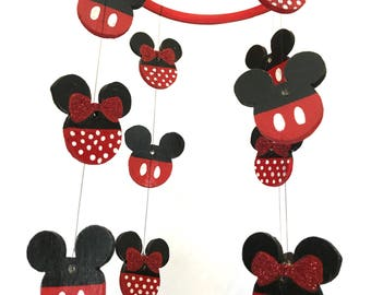 Mickey Mouse Mobile// Baby Crib Mobile// Mickey Mouse Nursery