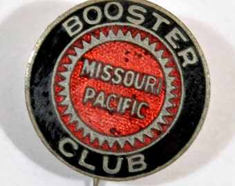 Missouri Pacific Railroad Booster Pin