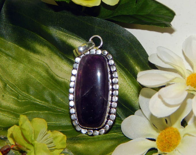 Female Purple Dragon inspired vessel - Handcrafted Amethyst pendant necklace