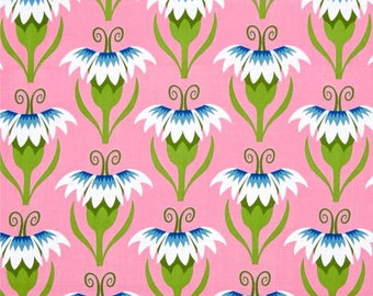 Cool Breeze Pretty Pinks Blue by Jane Sassaman for Free Spirit Fabrics Collection, Cotton Quilt Fabric