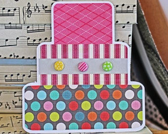 Layered Birthday Cake, Birthday Cake Die Cuts, Handmade Die Cuts, Birthday Die Cut, Sweet 16, Pink Cake Die Cut, Girls Birthday Scrapbook