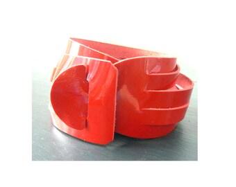Patent Leather Double Wrap Bracelet