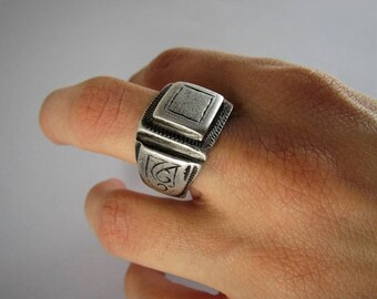 Ethnic berber ring, solid silver - Antique ethnic ring - Berber ring - Berber jewelry - African ring - African jewelry