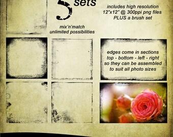 Photo Overlays + Photoshop Brush Set: Mix'n'Match Grunge