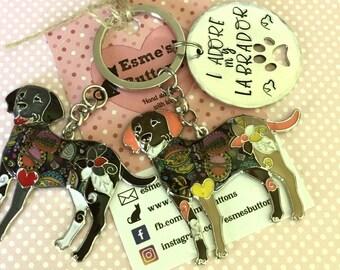 I adore my Labrador, labrador keyring, lab owner gift, Labrador gift, Hand Stamped Key Ring, Dog Owner, pet Owner, Pet Lover,