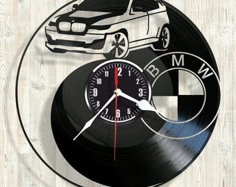 BMW vinyl record wall clock best eco-friendly gift for any occasion