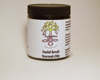 Facial Scrub Normal to Oily, normal skin, oily skin, exfoliant, smoothing, detoxifying