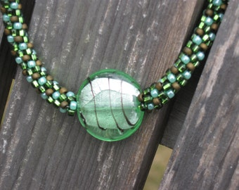 Green Apple Kumihimo Necklace