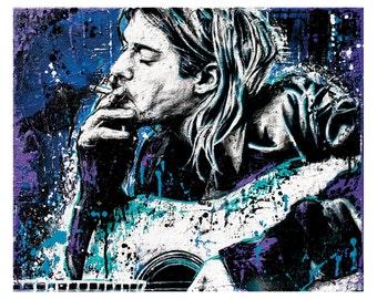 Kurt Cobain - Negative Creep - 24 x 18 Signed, HIgh Quality Art Poster