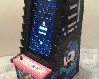 Perler bead arcade cabinet phone holder.