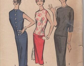 Bust 31 1/2-1960's Junior Dress Advance 8669 Size 11
