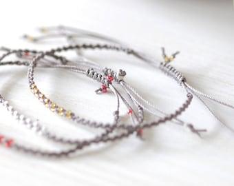 Bracelet micro-macramé