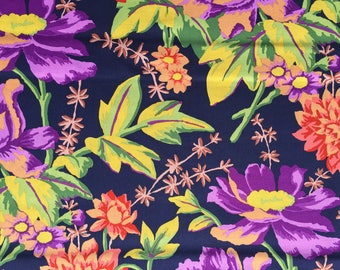 Kaffe Fassett Rustic Floral charcoal GP 108 Westminster Rowan Fabrics FQ or two