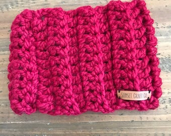 Cranberry-LARGE ADULT-Headwarmer