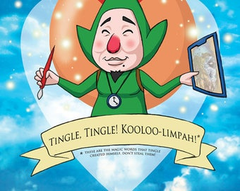 Tingle Valentine- Legend of Zelda fan art original illustration print