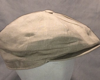 Vintage Orvis Hat Lined Irish Linen Newsboy Cap 8 Panel Cabbie Hat Beige Golfing Hats Flat Cap Made In Ireland Fly Fishing Hat T101 M8030
