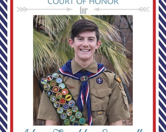 CUSTOM Eagle Scout Court of Honor Invitation
